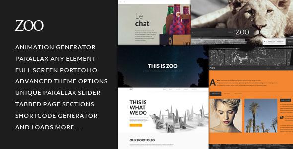 Zoo - Responsive One Page Parallax Theme - Portfolio Creative