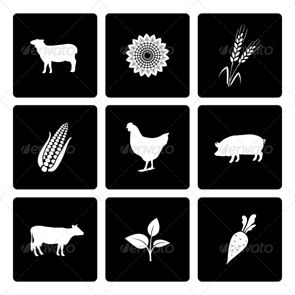 GraphicRiver Rural Icons Set 6761624