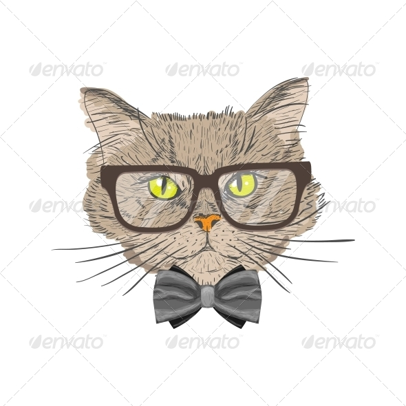 GraphicRiver Portrait of Hipster Cat 6761625