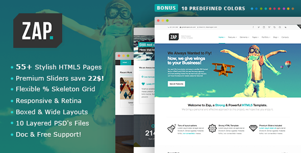 ZAP - Responsive Multi-Purpose HTML5 Template