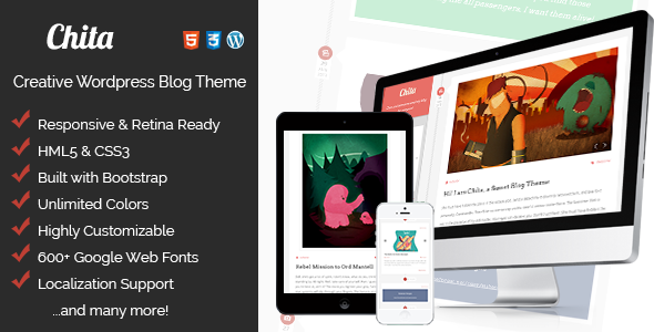 Chita - Creative & Tasty, Retina Ready Blog Theme - Personal Blog / Magazine