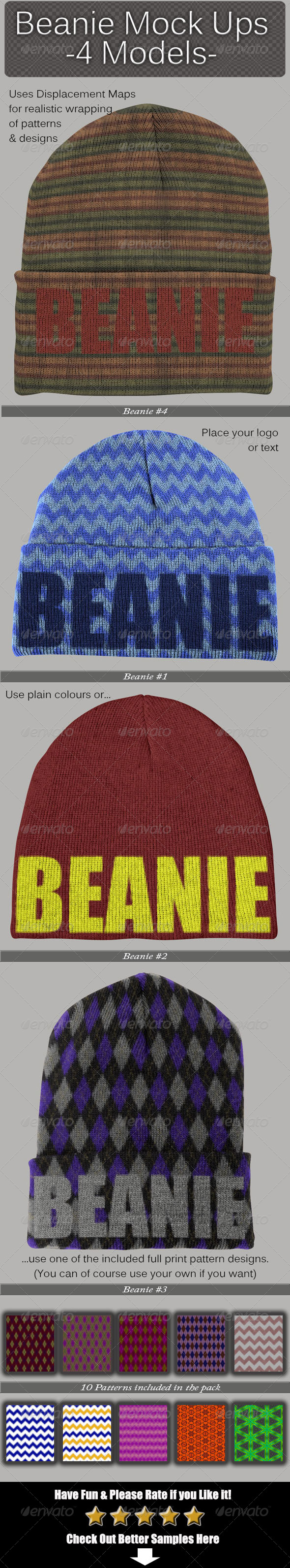 GraphicRiver Beanie Mock Ups 6761929