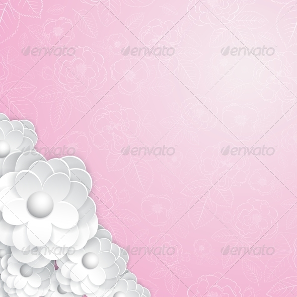 GraphicRiver Background with Paper Flowers 6761948
