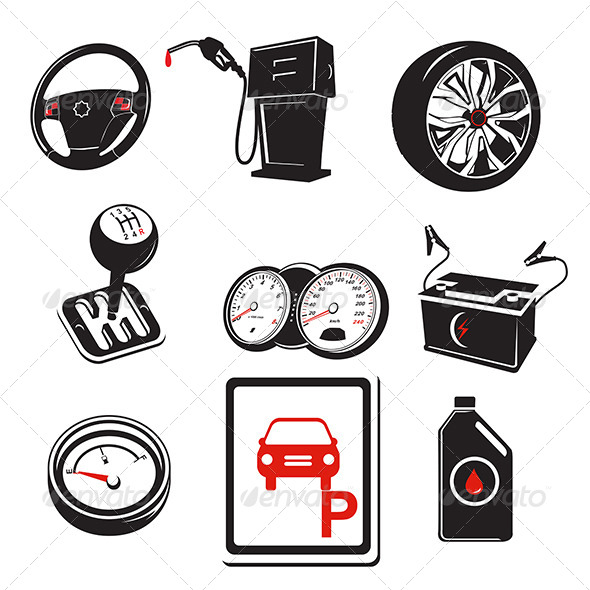 GraphicRiver Auto Icons 6762142