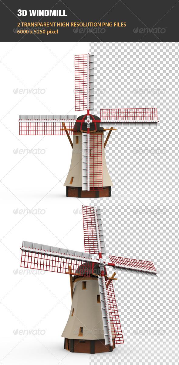 GraphicRiver 3D Windmill 6762186