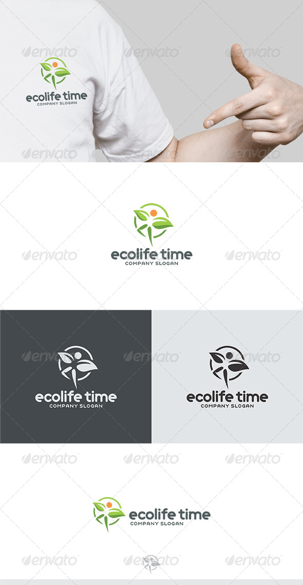GraphicRiver Ecolife Time Logo 6762188