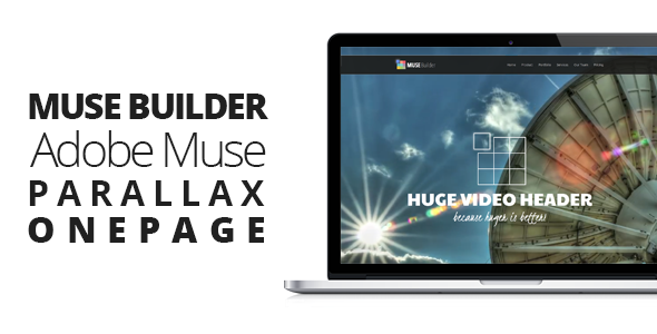 ThemeForest Muse Builder Parallax OnePage Muse Template 6762215