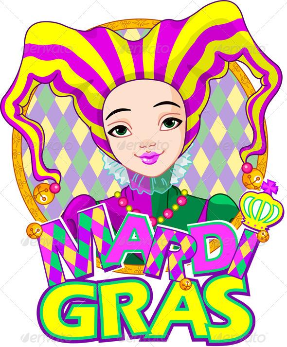 GraphicRiver Mardi Gras Harlequin Design 6762251