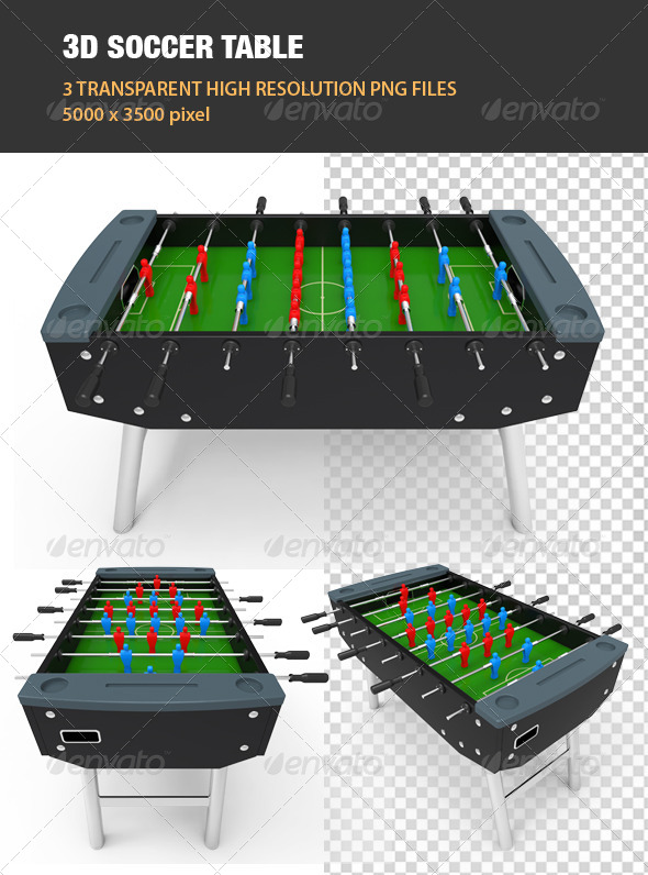 GraphicRiver 3D Soccer Table 6762255
