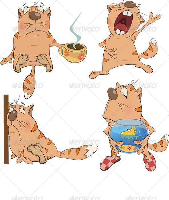GraphicRiver Set of Cartoon Cats 6762330