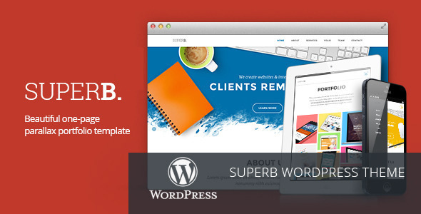 Superb - Responsive One-Page WordPress Theme