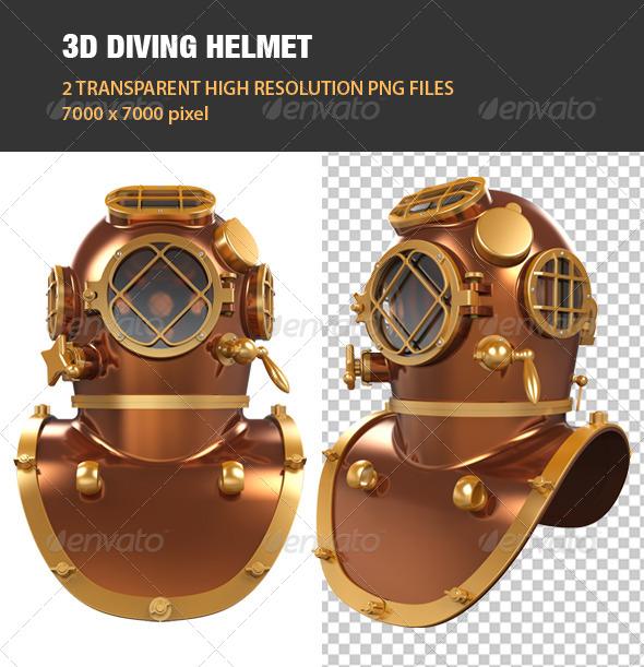 GraphicRiver 3D Diving Helmet 6762353