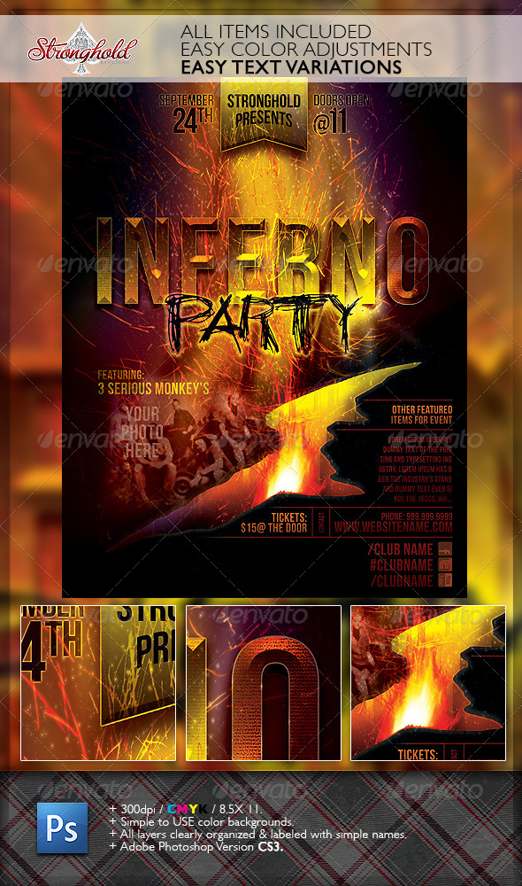 GraphicRiver Inferno Party Club Event Flyer Template 6763135