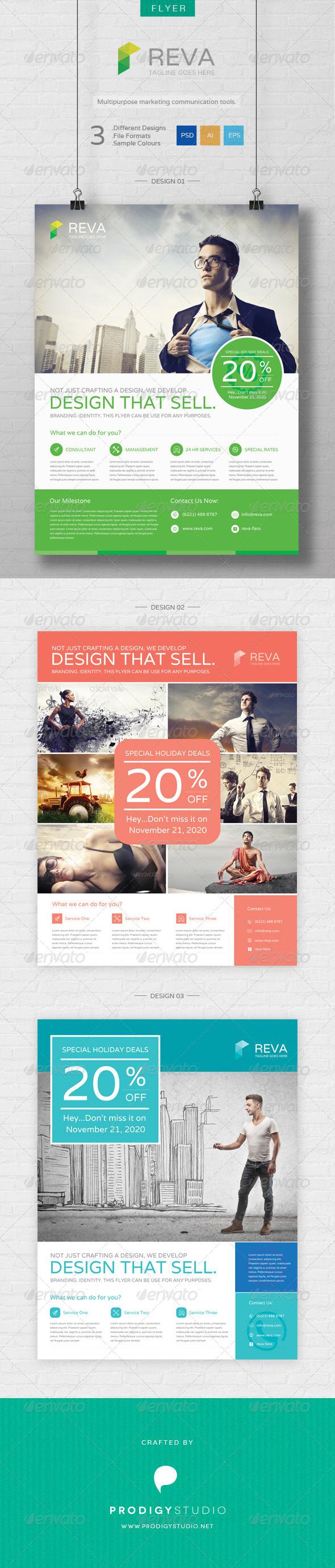 GraphicRiver Reva Flyer Template 6763140
