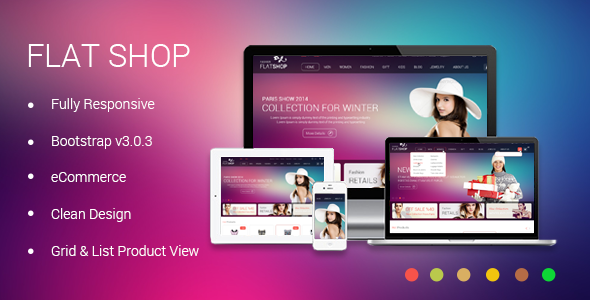 ThemeForest The New Flat Shop HTML Template 6763157