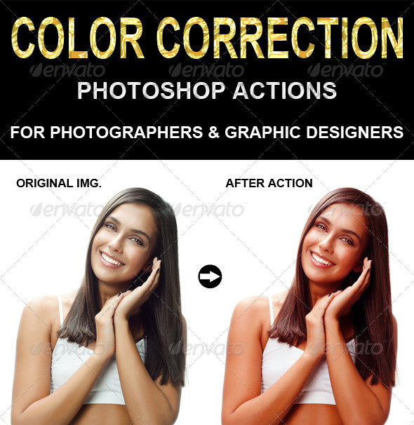 GraphicRiver Color Correction Photoshop action 6763193