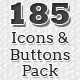 Flat Web Icons and Buttons Pack