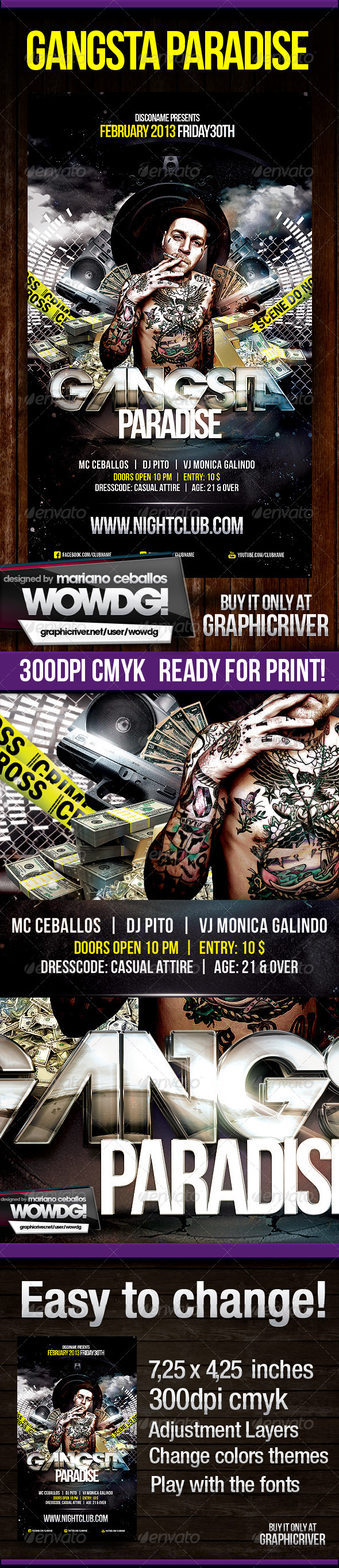 Gangsta Paradise - Events Flyers