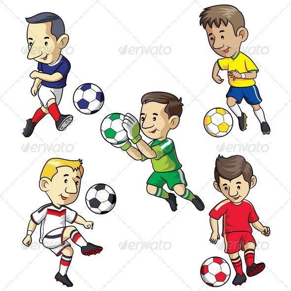 GraphicRiver Soccer Kids Cartoon 6728832