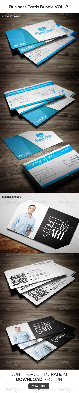 GraphicRiver Business Cards Bundle VOL-2 6763869