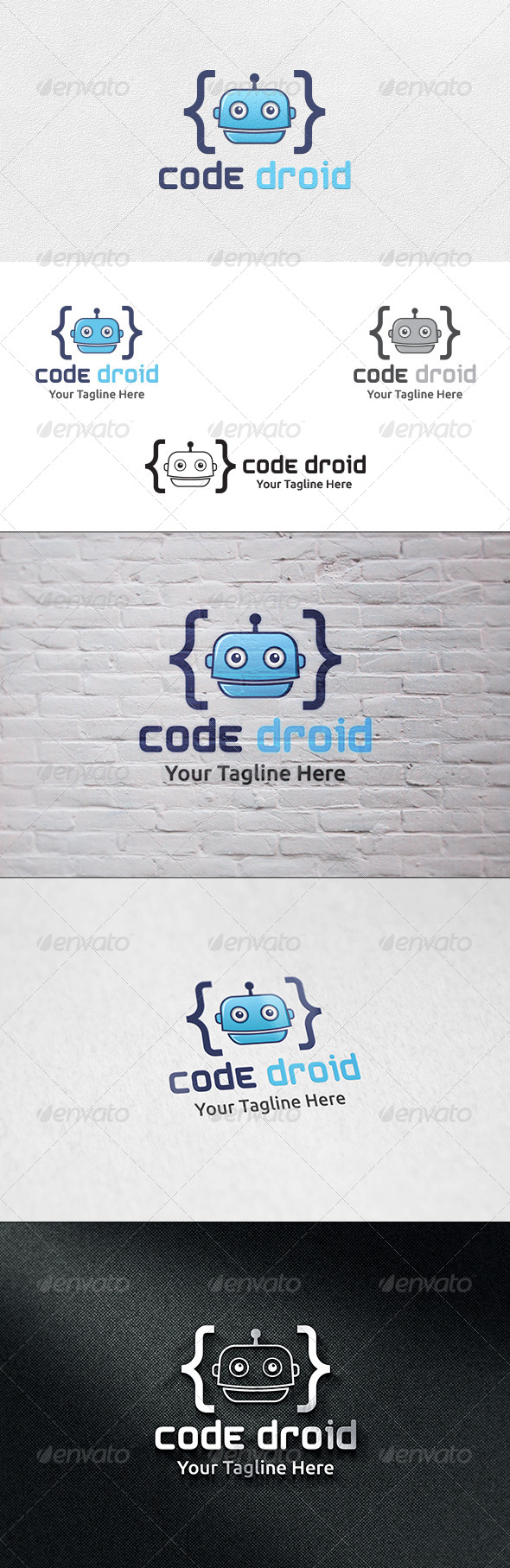 GraphicRiver Code Droid Logo Template 6763890