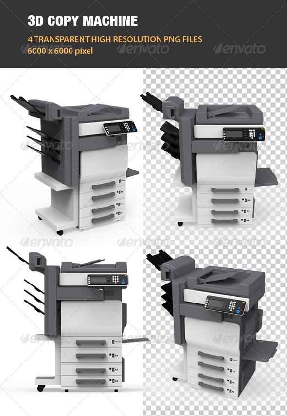 GraphicRiver 3D Copy Machine 6763891