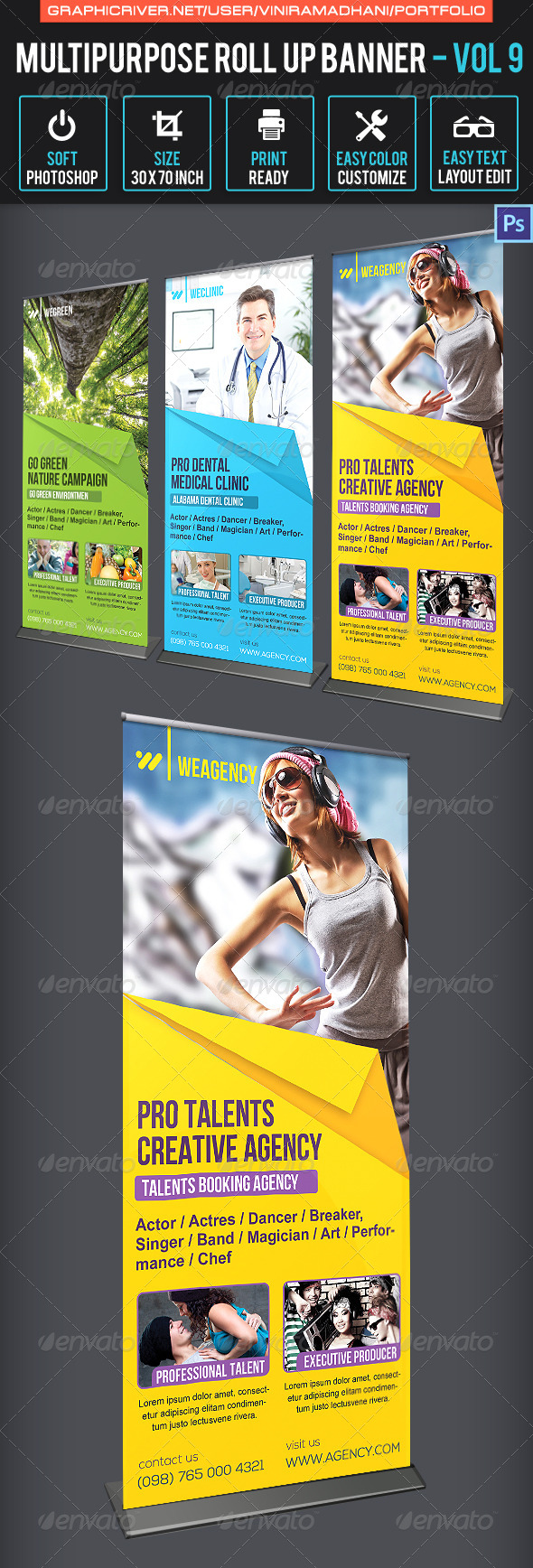 GraphicRiver Multipurpose Roll Up Banner Volume 9 6763916