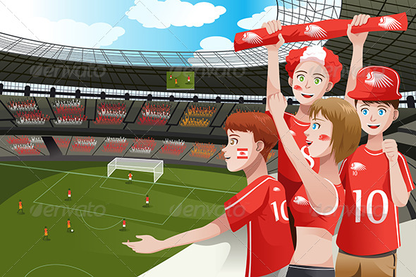 GraphicRiver Sports Fans in a Stadium 6764233