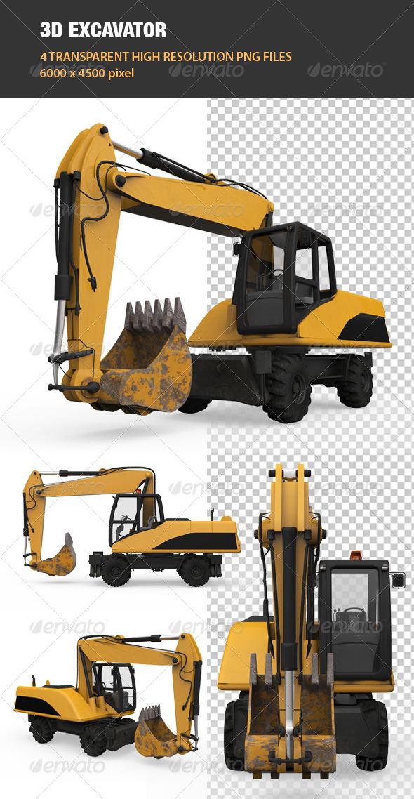 GraphicRiver 3D Excavator 6764277