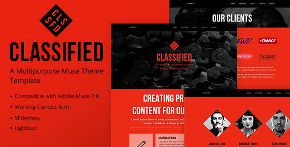 Classified - A Multipurpose Muse Template