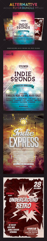 Alternative Flyer Bundle Vol.03 - Concerts Events