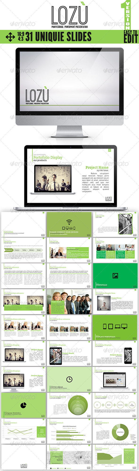 GraphicRiver Lozu Multiproposal PowerPoint Theme 6753830