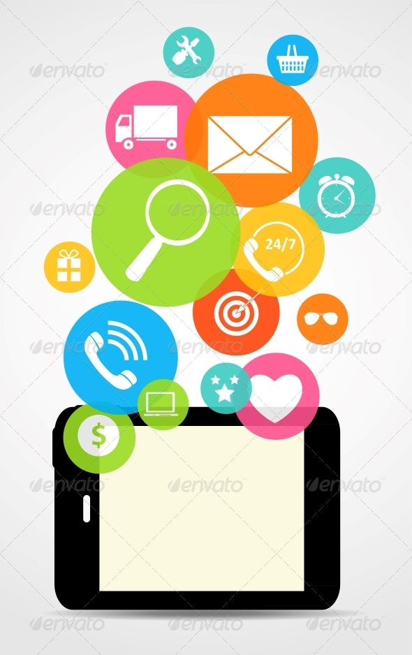 GraphicRiver Business Internet on Electronic Device 6764532