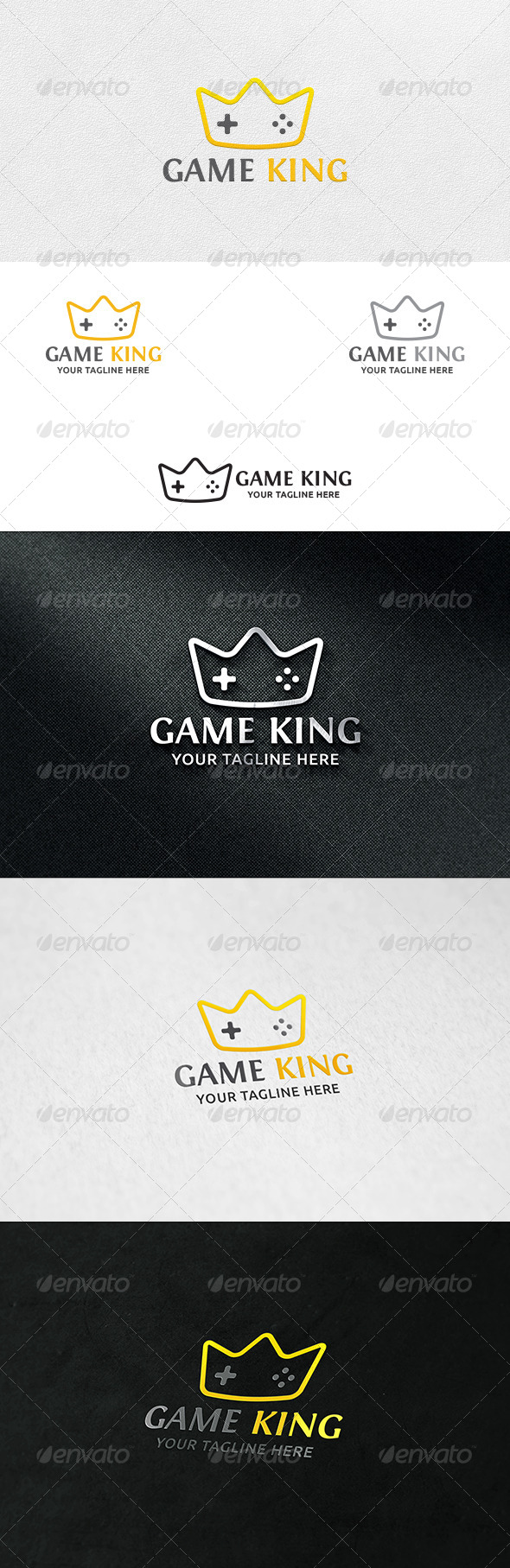 GraphicRiver Game King Logo Template 6764693