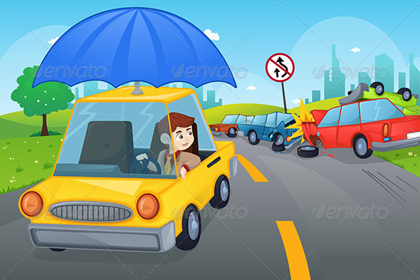 GraphicRiver Car Insurance Concept 6764733