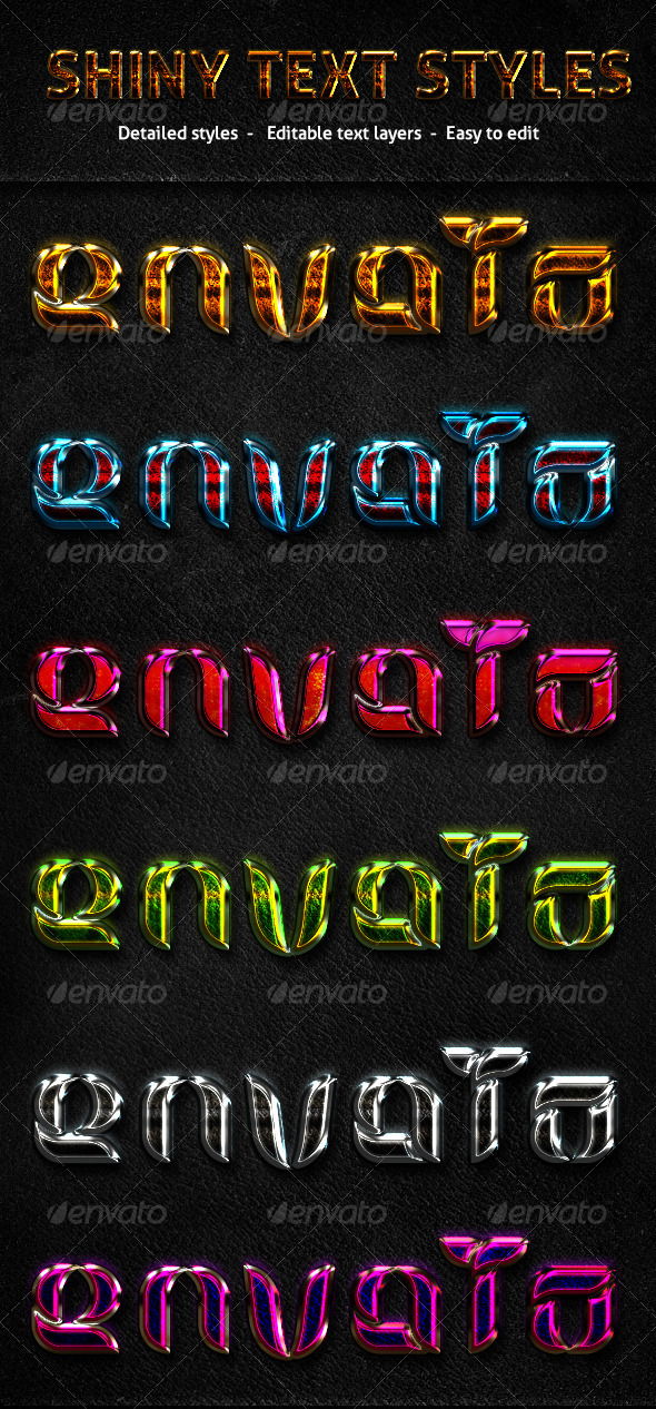 GraphicRiver Shiny Text Styles 6764736