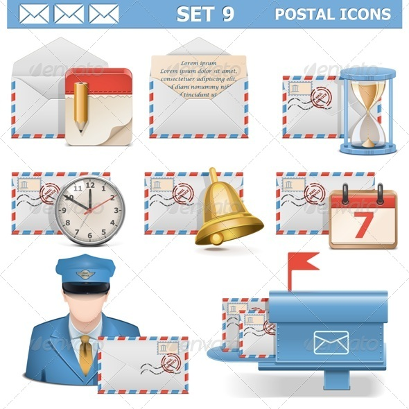 GraphicRiver Postal Icons Set 9 6764740