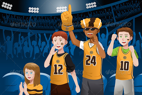 GraphicRiver Sports Fans in a Stadium 6764805