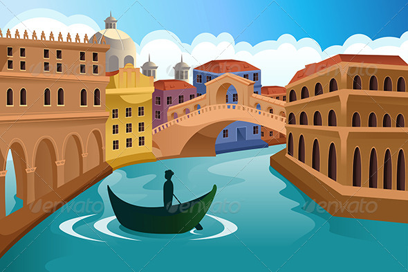 GraphicRiver European City Scene 6764842