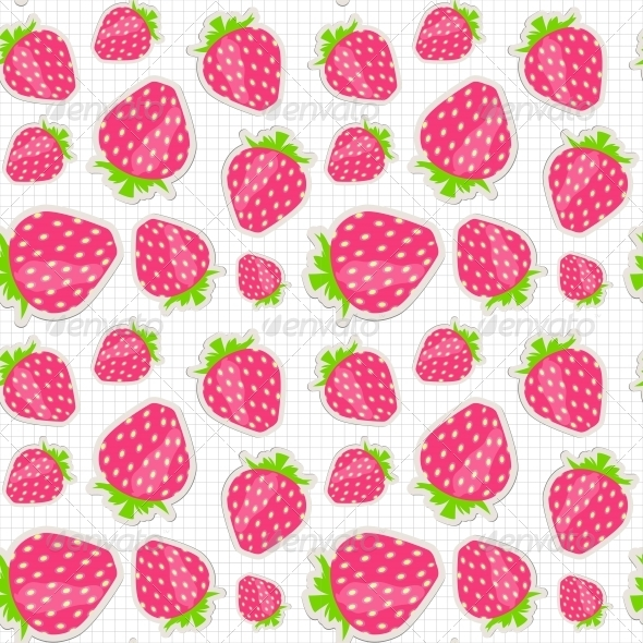 GraphicRiver Strawberry Pattern 6764851