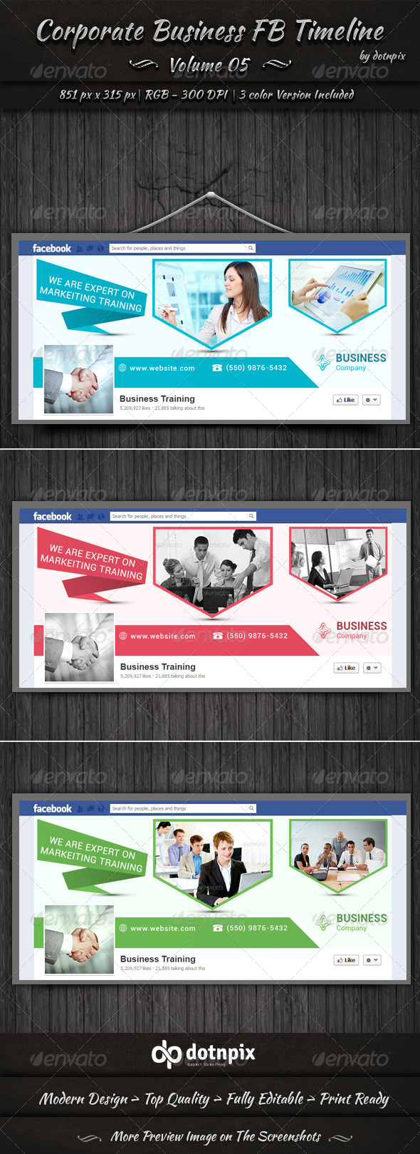 GraphicRiver Corporate Business FB Timeline Cover Volume 5 6764916