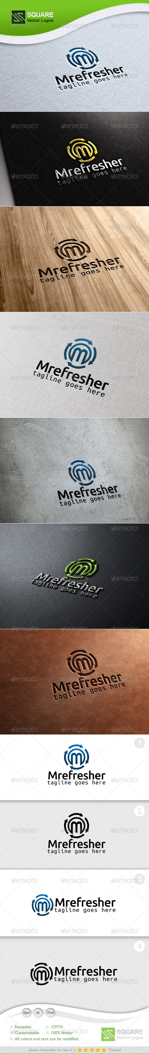 GraphicRiver M Recycle Vector Logo Template 6765010