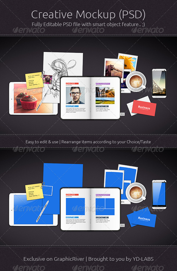 Creative Mockup - Miscellaneous Print