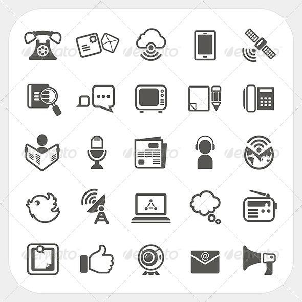 GraphicRiver Communication Icons Set 6765203