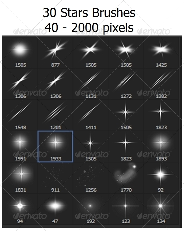 GraphicRiver Stars Sparkle 30 Brushes 6765494
