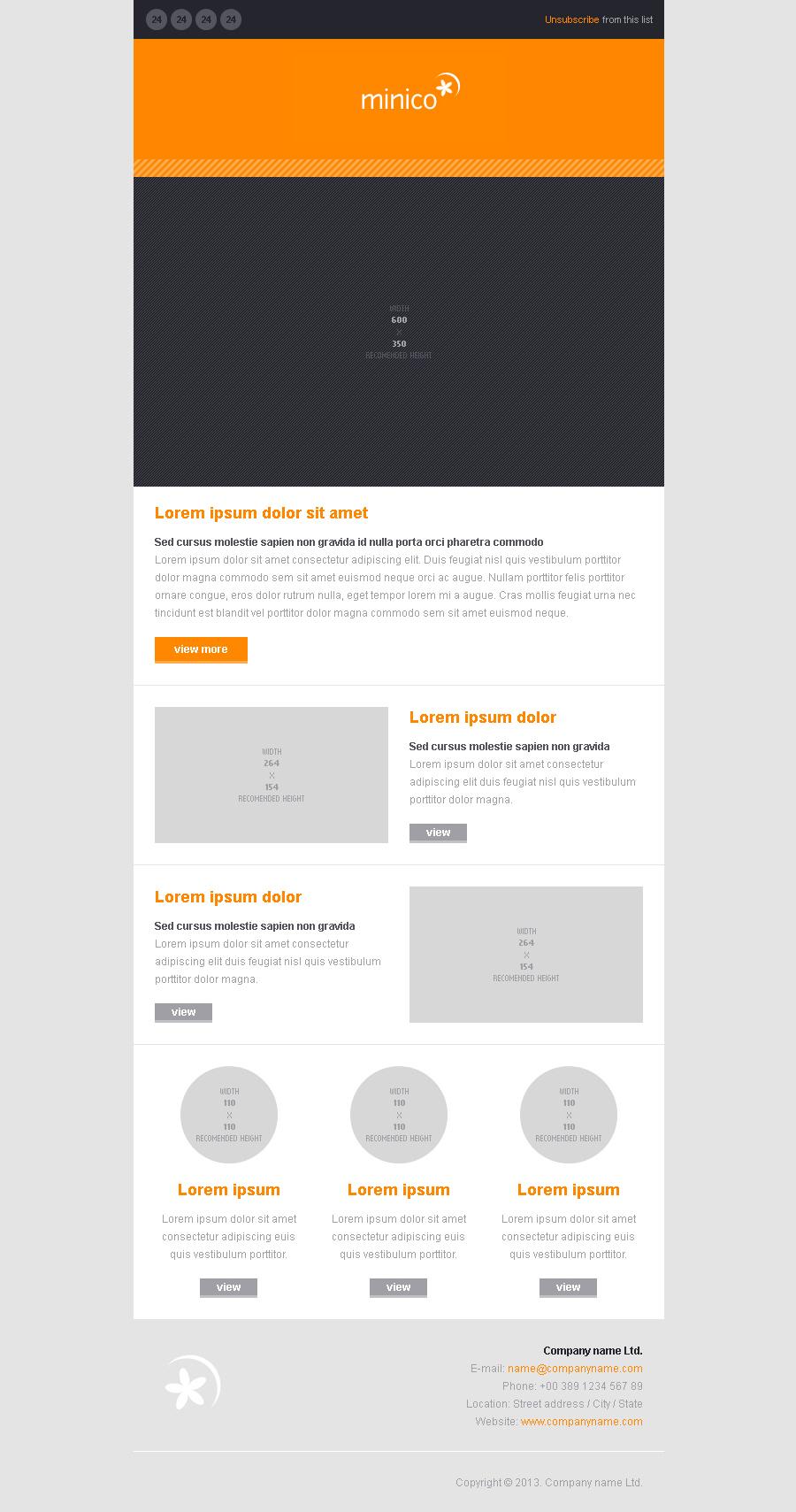 MINICO - 12 responsive e-mail templates