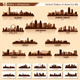 Skyline City Set. 10 Cities of USA #6 - GraphicRiver Item for Sale