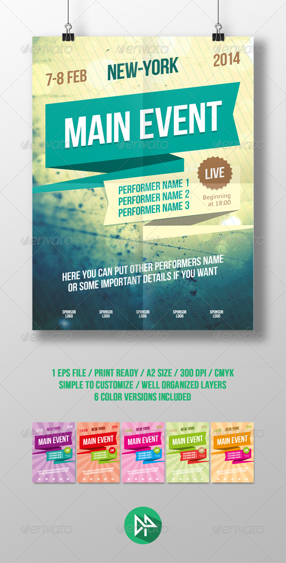 GraphicRiver Multipurpose poster template 6695732