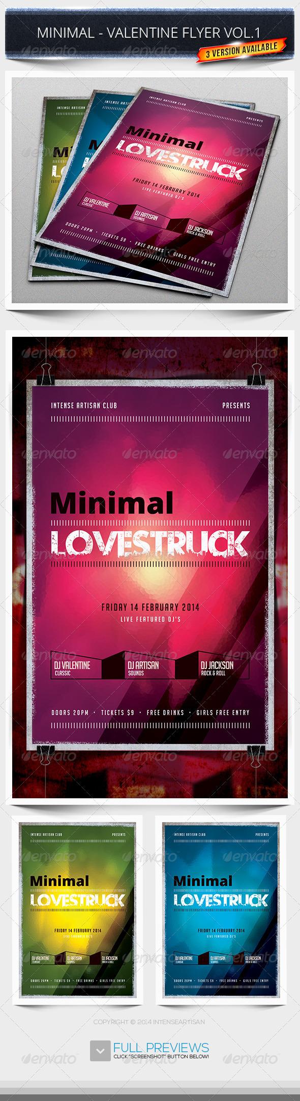 GraphicRiver Minimal Valentine Flyer Vol.1 6765645