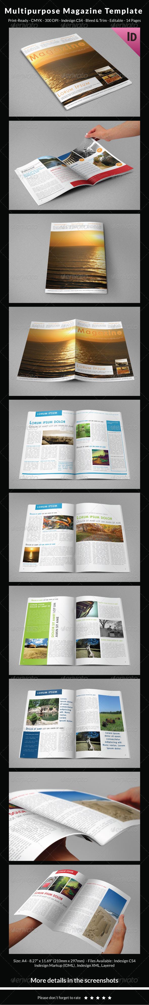 GraphicRiver Multipurpose Magazine Template 6765737